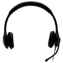 Słuchawki z mikrofonem V7 DELUXE USB, 1.8m, Czarne (HU511-2EP) Darmowy odbiór w 19 miastach!