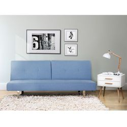Sofa z funkcja spania niebieska - kanapa rozkladana - wersalka - DUBLIN