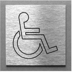 Piktogram, Symbol, Znak, Oznaczenie - Toaleta WC dla Inwalidów, Niepełnosprawnych - 10x10cm
