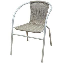 FLORALAND Master Grill&Party Krzesło ogrodowe plecione szare ramy