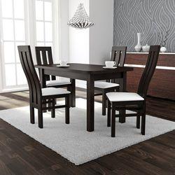 Zestaw stół Wenus II XL 80/140 do 220 + 4 krzesła K-32a