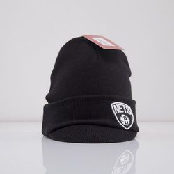 Mitchell & Ness czapka zimowa z daszkiem Brooklyn Nets black Cuffed Visor KN36Z