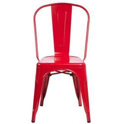 Krzesło PARIS insp. Tolix czerwone D2