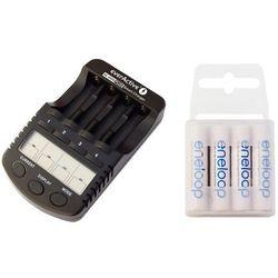ładowarka everActive NC-1000 PLUS + 4 x R03/AAA Panasonic Eneloop 800 (box)