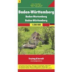 Niemcy część 3 Badenia-Wirtembergia mapa 1:200 000 Freytag & Berndt (opr. twarda)