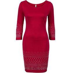 Sukienka z ćwiekami bonprix ciemnoczerwony