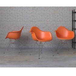Krzesło P018 PP pomarańczowe, chrom - pomarańczowy
