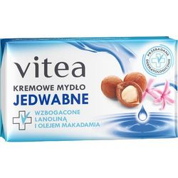 VITEA 100g Jedwabne Kremowe mydło z lanoliną i olejem makadamia
