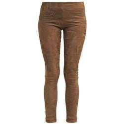 Ventcouvert Spodnie skórzane taupe