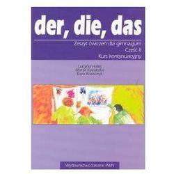 Der die das 2 Zeszyt ćwiczeń. Gimnazjum (opr. broszurowa)