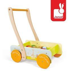 Wózek chodzik z klockami Żyrafa Sophie - zabawka dla dzieci