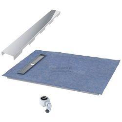 Schedpol podposadzkowa płyta prysznicowa 90x100 cm steel krótki bok 10.010OLKBSL