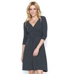 0f5f768128 suknie sukienki sukienka dresowa tuba kieszenie bawelna 727 (od ...