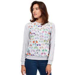 Szara Dresowa Bluza z Kolorowymi Rowerami
