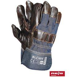 promocja! Rękawice robocze wzmacniane skórą licową RLCMN rozmiar 10,5