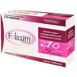 FOLICUM ACIDUM 270 tabletek