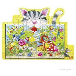 Puzzle Kot i akwarium