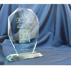 Trofeum szklane w etui - MILO z fotografią - Podziękowanie dla rodziców