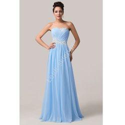Błękitna długa suknia wieczorowa | suknia dla druhny | błekitne sukienki na wesele