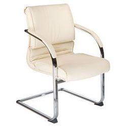 Fotel konferencyjny CorpoComfort BX-3339B Kremowy