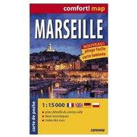 Marsylia ExpressMap Marseille Plan Miasta 1:15 000 comfort! map