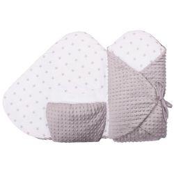 Glück Baby, Rożek niemowlęcy z kieszenią kangaroo, Gwiazdka-Minky, Szaro-biały Darmowa dostawa do sklepów SMYK