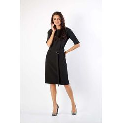 1af04a8050 suknie sukienki prosta elegancja czarna sukienka midi kartes 586 (od ...