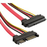 4World SATA, 457,3mm, power connector LP4, black 8506