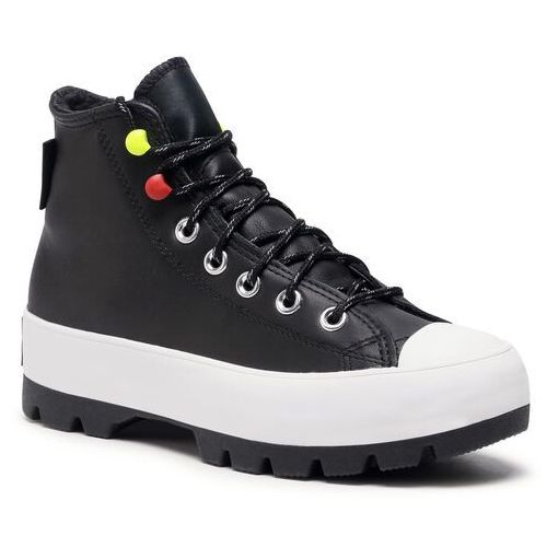 Trampki CONVERSE - Ctas Lugged Winter Hi 569554C Black/Black/White