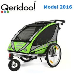 Przyczepka rowerowa Qeridoo Sportex2 zielona