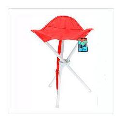 Składane krzesełko turystyczne, czerwone