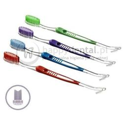 SZCZOTECZKA ortodontyczna z końcówką do czyszczenia aparatu i przestrzeni międzyzębowych
