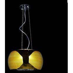 LAMPA wisząca LDP 7018 - 400 GO Lumina Deco kryształowa OPRAWA halogenowy ZWIS crystal złoty