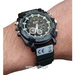 Mini kamera ukryta w zegarku FULL HD, rozdzielczość nagrań 1920x1080 px, wodoodporny, DZIEŃ/NOC, ZEGAREK
