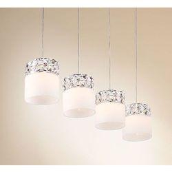 Żyrandol LAMPA wisząca ROYAL P0314-04B Maxlight sufitowa LISTWA kryształowa crystal biała