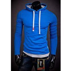 Niebieska bluza męska z kapturem Bolf 03 - NIEBIESKI Bluzy Sale 29,99 (-40%)
