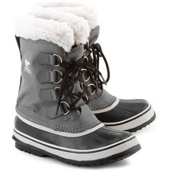 SOREL Winter Carnival - Szare Canvasowe Śniegowce Damskie - NL1495-035