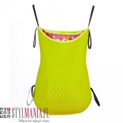 Dwustronna torba na wózek z neoprenu 40 Settimane limonkowa w listki