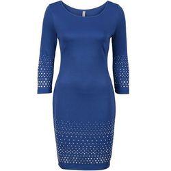 Sukienka z ćwiekami bonprix ciemnoniebieski