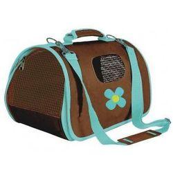Transportowa torba dla psa ZOLUX FLOWERS - brązowo/turkusowa - rozmiar M