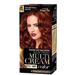 Farba do włosów Joanna Multi Cream Color intensywna miedź 44