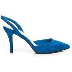 Czółenka na szpilce Evelina - odcienie niebieskiego