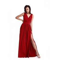 65a0056f0a suknie sukienki czerwona sukienka maxi - porównaj zanim kupisz