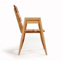 Designerskie krzesło z podłokietnikami do restauracji lite drewno olchowe Villa 2