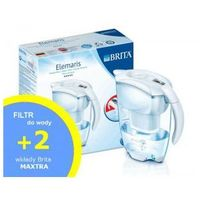 Dzbanek do wody Brita Elemaris Meter Cool Biały - 2,4L + 2szt filtrów Brita MAXTRA
