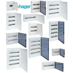 HAGER GOLF IP41 ROZDZIELNICA P/T DRZWI PRZEZROCZYSTE 22MOD.