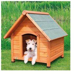 Naturalna buda dla psa ze spadzistym dachem Rozmiar:S