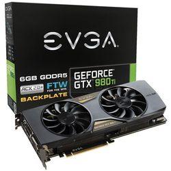 Karta graficzna EVGA GeForce® GTX 980 Ti FTW GAMING ACX 2.0, 6GB GDDR5 (384 Bit), HDMI, DVI, 3xDP - 06G-P4-4996-KR