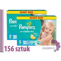 PAMPERS pieluszki Activ Baby 5 Junior 156 sztuk