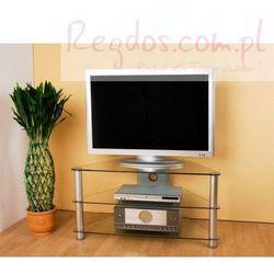 Stolik pod telewizor - szklany - narożnikowy RTV / LCD